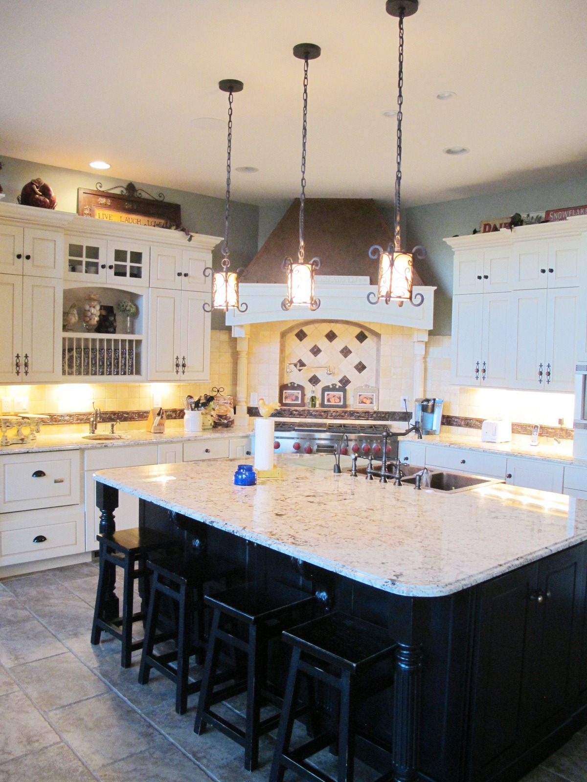Cococozy blog stacy nance interiors - Kitchen with copper accents ...